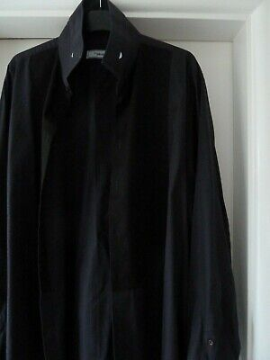 Mens black dress shirt collar size 17.5""