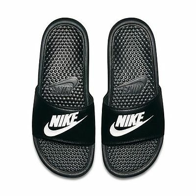 Nike Benassi JDI Men's Slide Black White 343880-090 Free Shipping Sandals