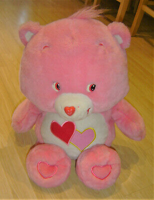 """Genuine 2002 Care Bears Extra Large 29"""" Love A Lot Hearts Bear Soft Toy Plush"""