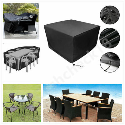 Waterproof Garden Patio Furniture Cover For Rattan Table Cube Seat Outdoor