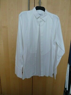 Mens white dress shirt collar size 17.5""