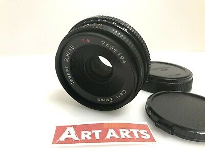 【 MINT 】 Contax Carl Zeiss Tessar T* 45mm F/2.8 MMJ Lens For CY Mount from JAPAN