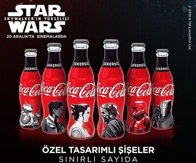 2019 SET OF 6 COCA-COLA  STAR WARS EMPTY CANS The Rise of Skywalker Philippines