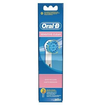 Oral-B Sensitive Clean Electric Toothbrush Replacement Heads Powered by Braun