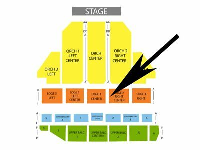 LOVE ROCKS NYC Beacon NY Mar 12 Dave Matthews Jackson Brown 2 Tix LOGE2 ROW J