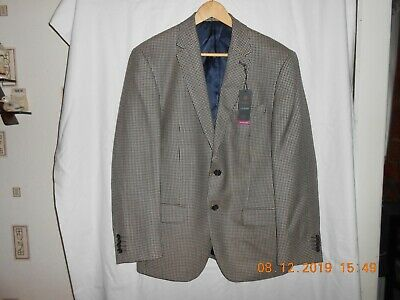 "M&S LUXURY PURE NEW WOOL SHORT FIT JACKET BROWN MIX UK 40"" Chest NEW TAGS £129"