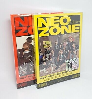NCT 127 2nd Album [NCT #127 Neo Zone] 2Ver SET CD+P.Book+Lyrics+Post+Card+C.Card