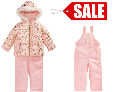 Carter's Little Girls Snowsuit, Animal-Print, Hooded, Size 5-6 years Colour Pink