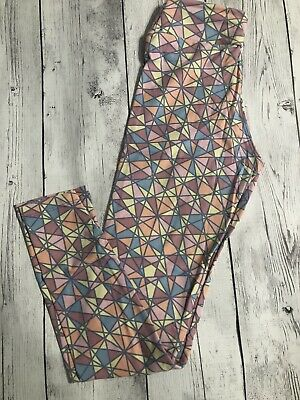 Lularoe Women Girls Leggings Size Tween Petite Women's Pink Yellow Peach New
