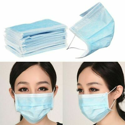 50x Disposable Face Mask Surgical Medical Industrial 3Ply Coronavirus