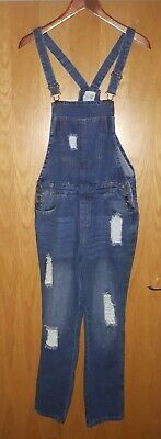 Ladies vintage distressed dungarees size small. Rockabilly , festival, boho