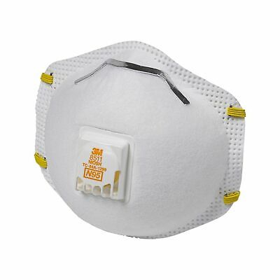 3M 8511 Particulate Sanding Respirator N95 With Valve 10 Pieces...FREE SHIPPING