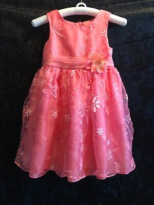 Girls Size 6 6x Easter Holiday Special Occasion Dress Peachy Pink Floral Lot 2