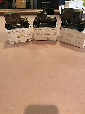 Vintage Banthrico Bank Car Metal New In Box. Lot Of 3