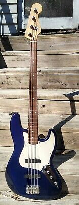 Fender Jazz Bass Electric Guitar Made in Mexico Metallic Blue EMG No Reserve