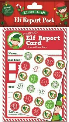 Edward The Elf Report Pack Inc 25 Sheets & Stickers Christmas Childrens Xmas