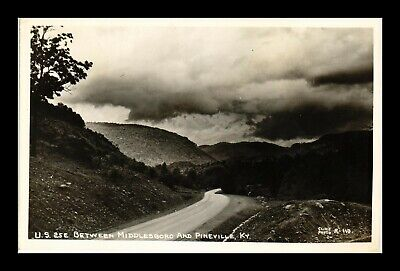 Us Rppc Postcard Us 25E Highway Between Middlesboro & Pineville Kentucky
