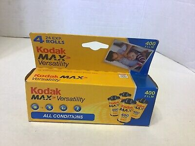 Unopened Kodak Max 400 Speed 35mm Film 24 Exp. Sealed New Expired Film