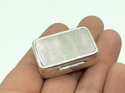 Superb Antique Vintage Solid Silver Trinket/Jewellery/Snuff/Pill/Fob Seal Box