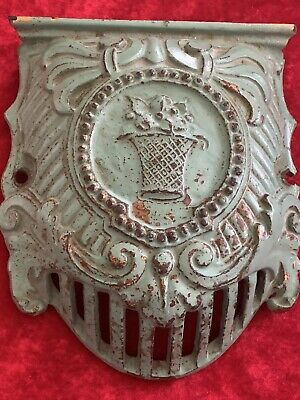Old Victorian Ornate Green Cast Iron Vent Cover