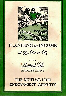 Vintage 1937 Mutual Life Insurance Company of New York Advertising Booklet