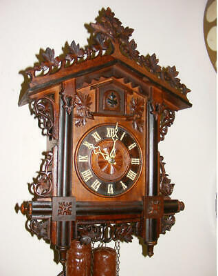 old German rail road type cuckoo clock XIXc.
