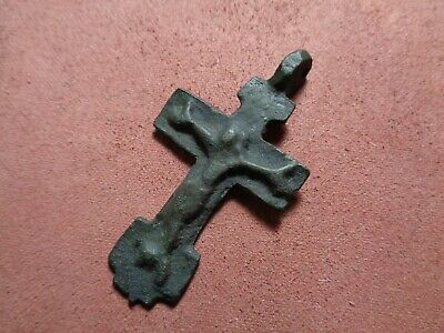 Russian empire old orthodox rare pendant cross 1500-1600 AD original 269