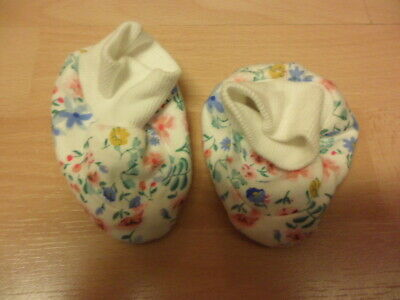 New M&S Blue Floral Booties 0-6 Months