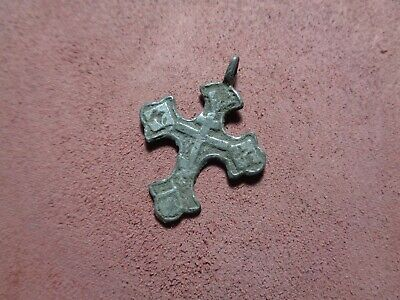 Russian empire old orthodox rare pendant cross 1600-1700 AD original 273