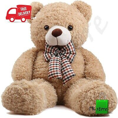 Giant Teddy Bear 32in Soft Cotton Plush Cute Big Huge Large Stuffed Kids Toy New