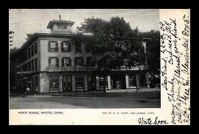 Us Black & White Postcard Old Hoxie House Mystic Connecticut