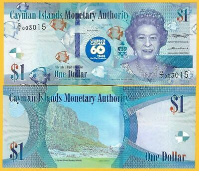 Cayman Islands 60th Anniversary Constitution $1 new note issued 2020 (2018 date)
