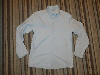 boys boy signature next formal shirt blue & white age 10 years worn once long sl