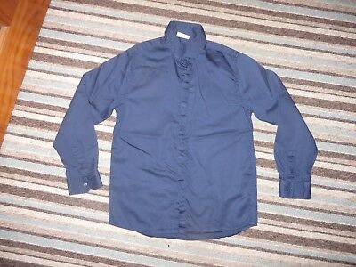 boys boy signature next formal shirt navy blue age 9 years worn once long sleeve