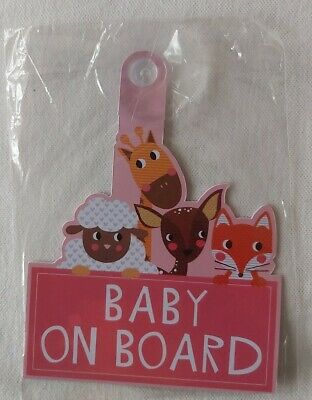 Baby On Board Car Sign with Suction cup
