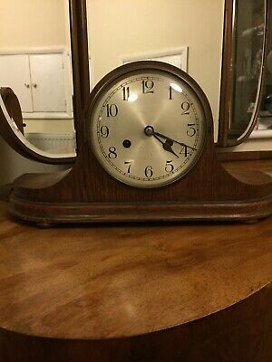 Vintage Mantle Clock,Nepolean Hat 8 Day Chiming German Haller,not Fully Working