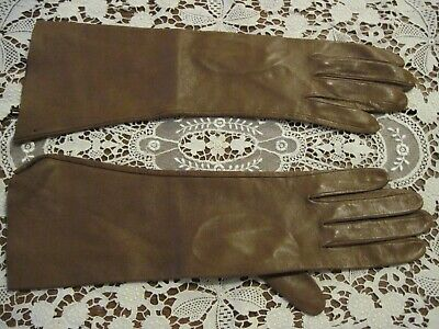 Antique Ladies Kid Leather Mid Gloves ~ Un-Worn~Lovely Condition! Made In Italy