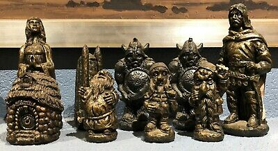 9 Mike Makras Statues from the Chess Set - Hobbit & LOTR