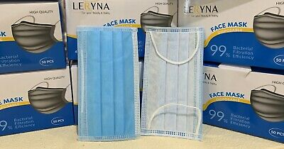 50pc Surgical Medical Disposable Face Mask with HIGH QUALITY 4 layers BFE 99%