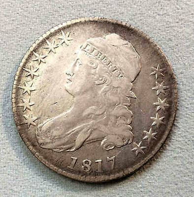 1817 Bust Half Dollar High Grade Nice