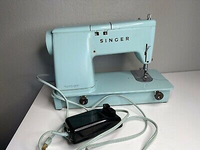 Singer Vintage Sewing Machine Made In Great Britain Model 347 Cord & Foot Pedal
