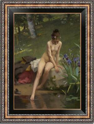 "Old Master-Art Portrait Antique Oil Painting nude girl on canvas 24""x36"""