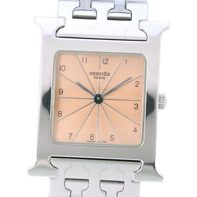 AUTHENTIC HERMES HH1.510 H watch Watches Stainless Steel mens bronzeDial