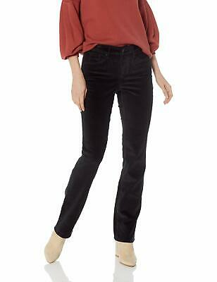 NYDJ  Black Womens Size 6 Velvet Straight-Leg Stretch Casual Pants $119 746