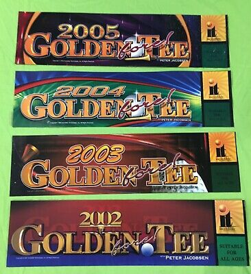 Original (4) Pack Arcade Marquees Golden Tee 2005,2004,2003,2002