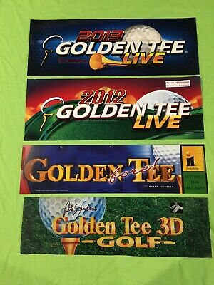 Original (4) Pack Arcade Marquees Golden Tee 2013,2012, fore, 3D