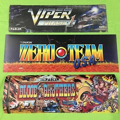Original (3) Pk. Arcade Marquees (Viper Phase 1, Zero Team USA, Blood Brothers)
