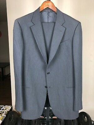 Made in Italy! Armani Collezioni Dark Charcoal Gray Wool Blend Jacket&Pants Suit