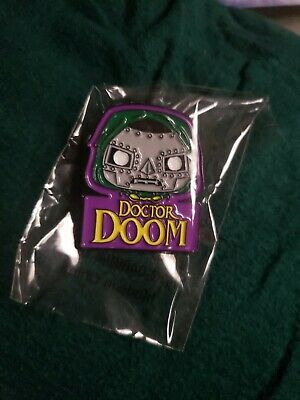 Marvel Collector Corps Funko Pop Doctor Dr Doom Lapel Pin Pinback Collectible