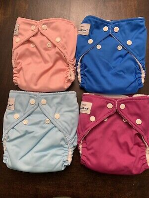Lot Of 4 Fuzzi Bunz Diapers And Liners Size Small